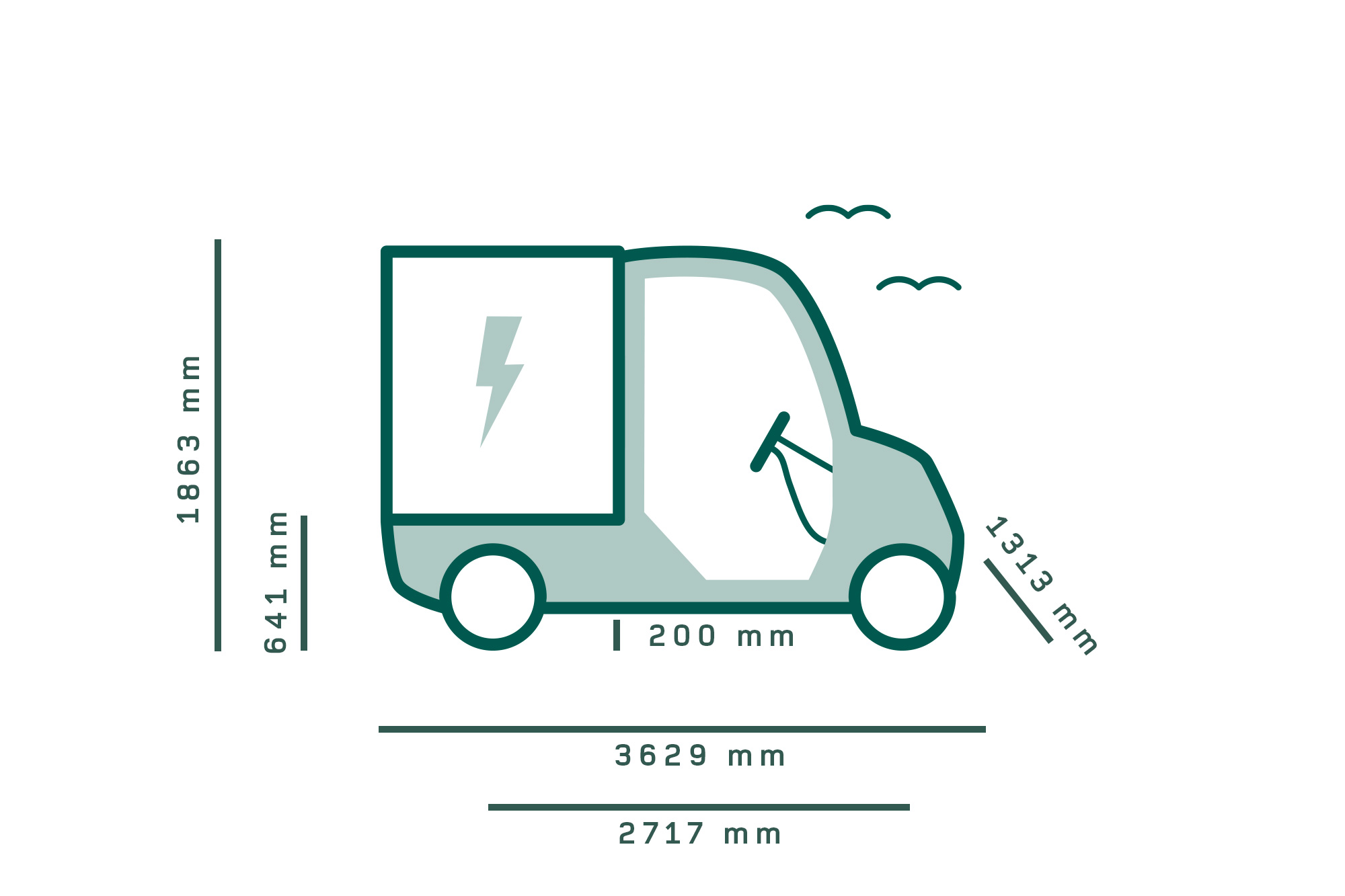 Garia Utility measurements icons vehicles extended
